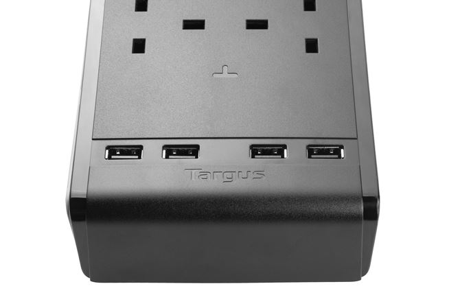 Picture of SmartSurge 6 with 4 USB Ports (Black)
