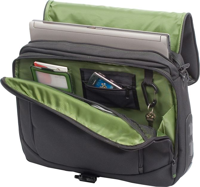 "Picture of 15.6"" Spruce Ecosmart Messenger (Black/Green)"