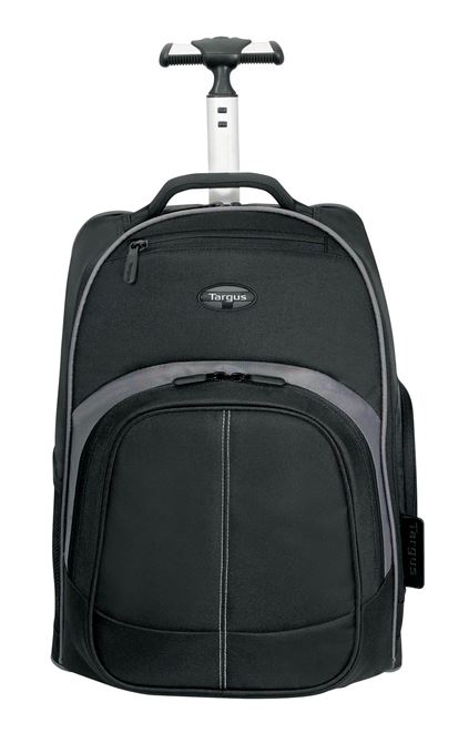 16 Compact Rolling Backpack Black