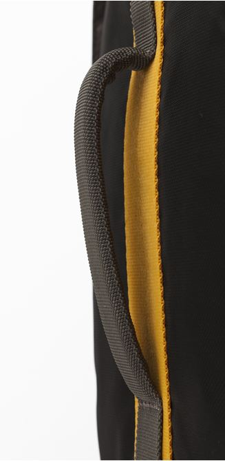 """Picture of 15.6"""" Seoul Convertible Backpack (Black/Yellow)"""