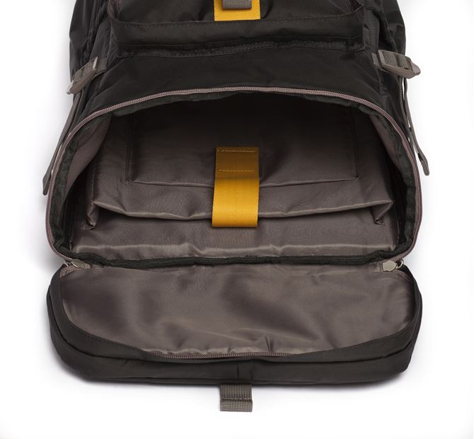 "Picture of 15.6"" Seoul Convertible Backpack (Black/Yellow)"