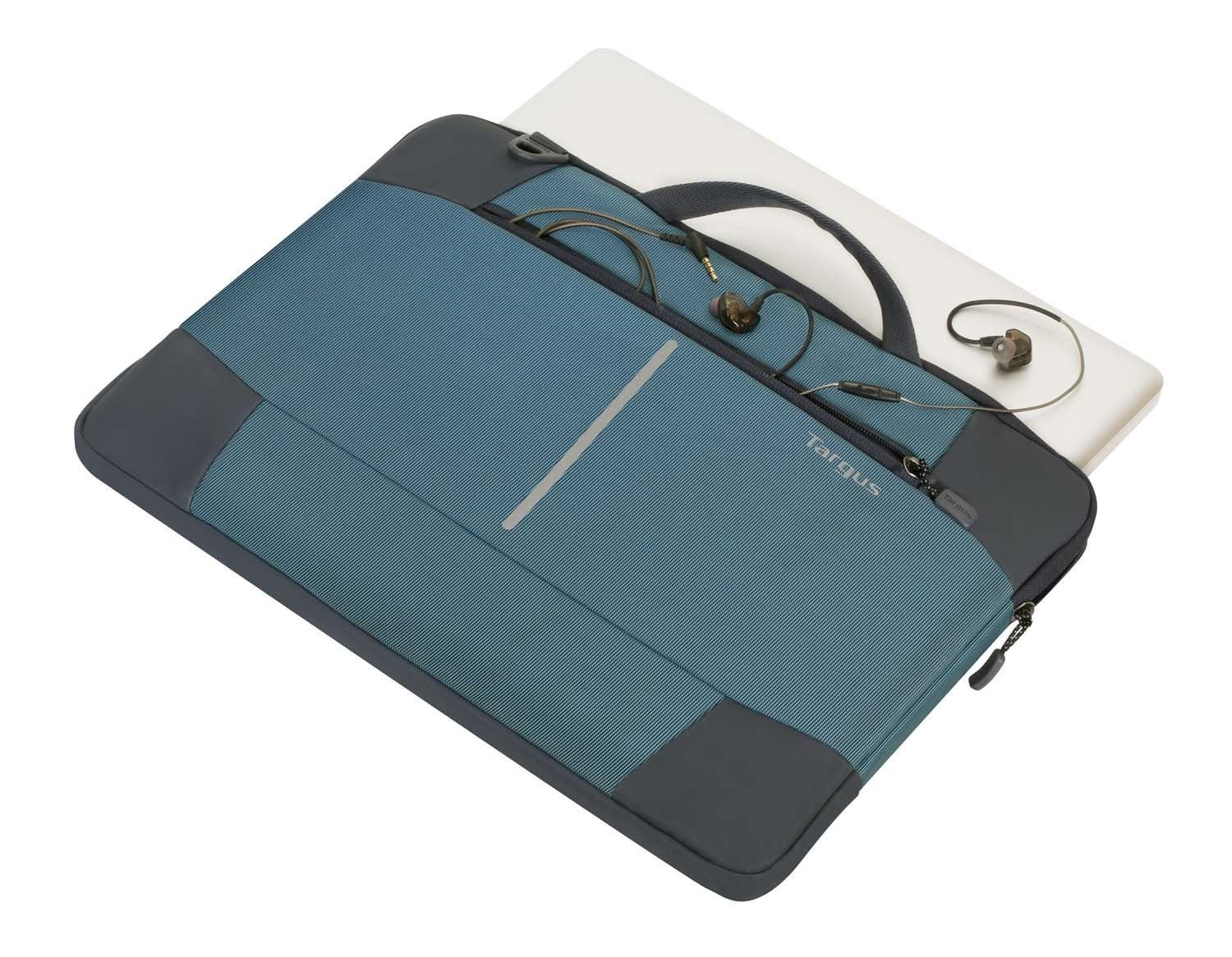 TSS95402AU - 15-6 Bex II Slipcase-Stone BlueBlack Top With MacBook