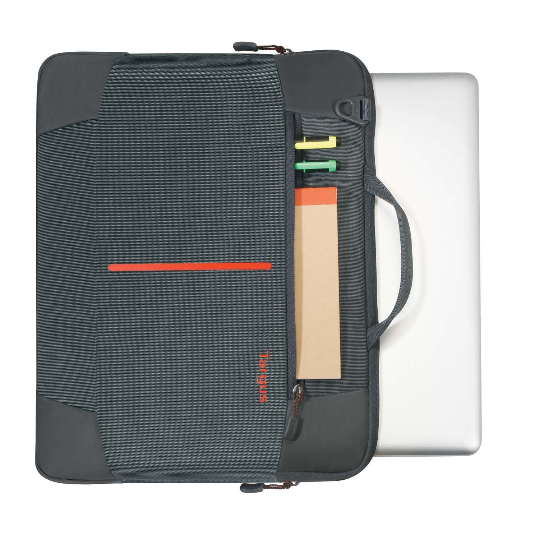 TSS954AU - 15.6 Bex II Slipcase - Ebony with pens and MacBook