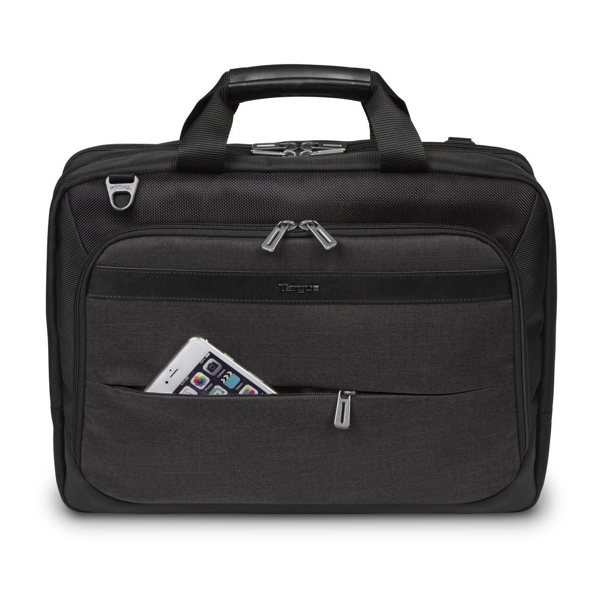 """ab2c066518 Mallette haute capacité CitySmart 14,15,15,6"""" pour portable à chargement  par le dessus de Targus - Noir/Gris"""
