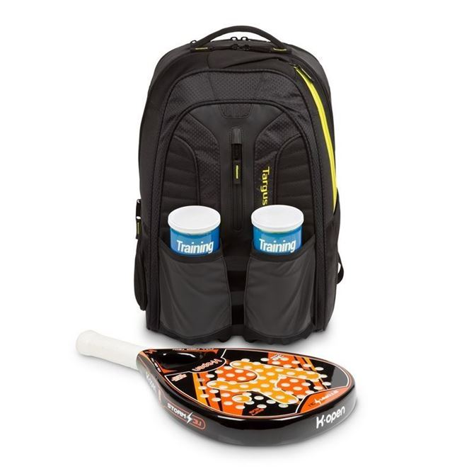 "Picture of 15.6"" Work + Play Racquets Backpack (Black)"