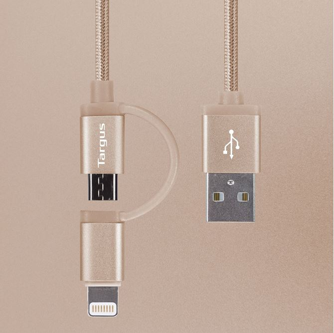 Picture of Aluminium Series 2-in-1 Lightning Cable (Gold)