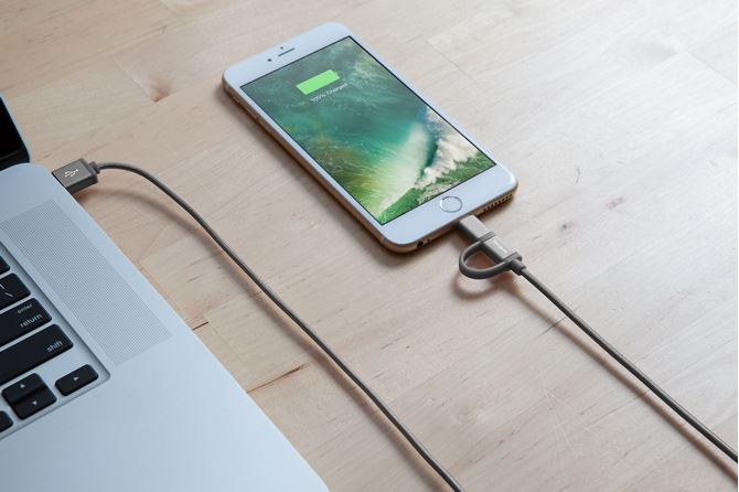 Picture of Aluminium Series 2-in-1 Lightning Cable (Space Gray)