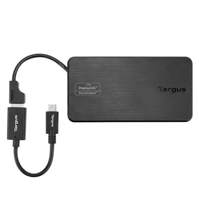 Picture of USB 3.0 & USB-C Dual Video 1K-2K Travel Docking Station