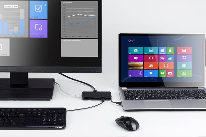 USB 3.0デュアル・トラベル・ドッキング・ステーション (ブラック)の画像