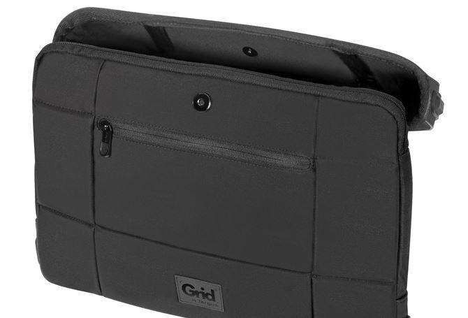 15.6インチノートPC ショルダーバッグ Gridシリーズ (ブラック)の画像
