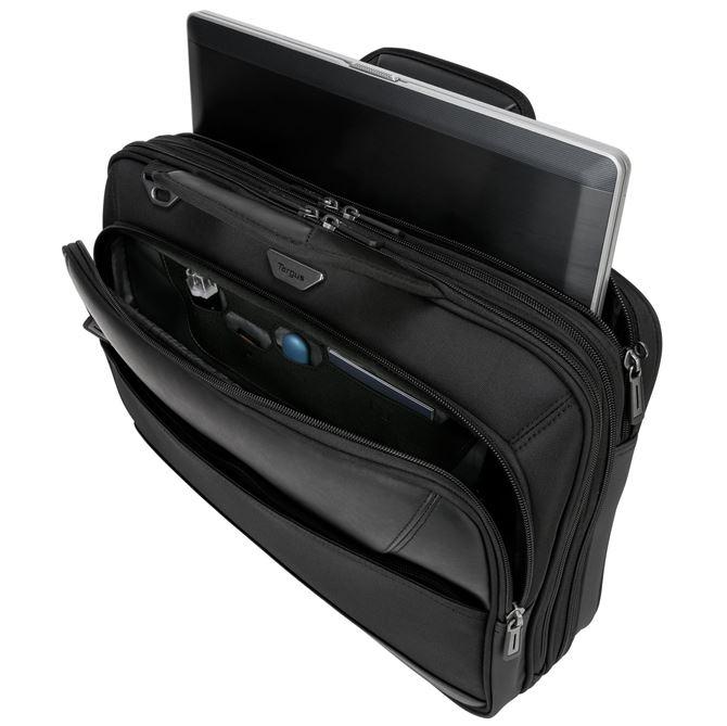 Targus 15.6インチ ノートパソコン用 ViP トップロード  手荷物検査と相性抜群SafePort® ハンモック式落下保護機能   (ブラック) の画像