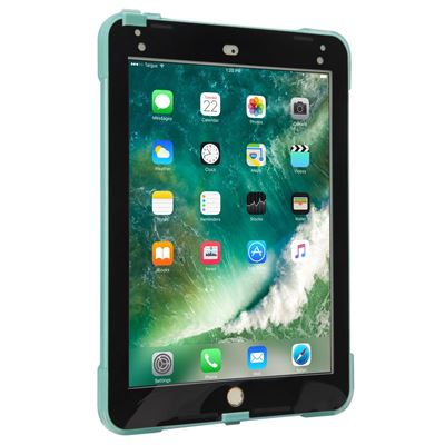 """Imagen de Funda SafePort Rugged de Targus para iPad (2018/2017), iPad Pro de 9,7"""" y iPad Air 2 - Verde azulado"""