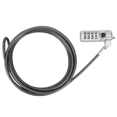 DEFCON® Trapezoid Serialized Combo Cable Lock - 25 pack (ASP66GLX-25S)