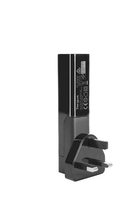 USB 4ウェイインターナショナルファストチャージャー(ブラック)の画像