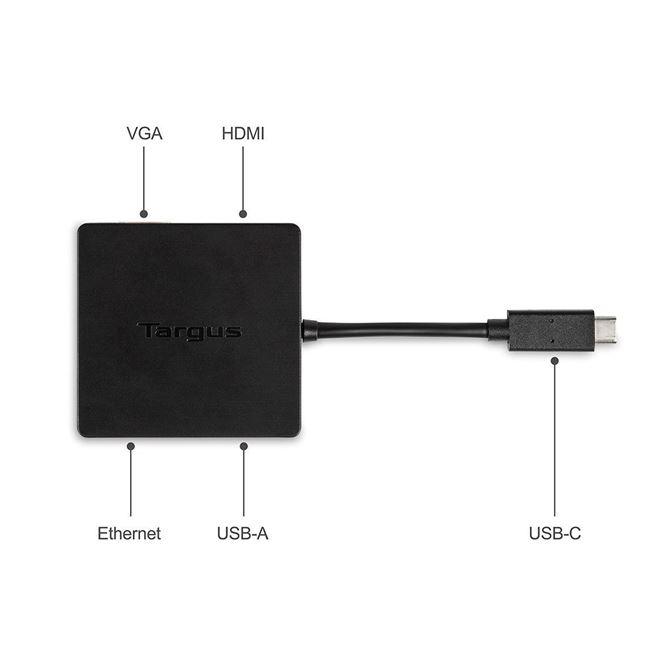 USB-C DisplayPort™Altモードトラベルドック(ブラック)の画像