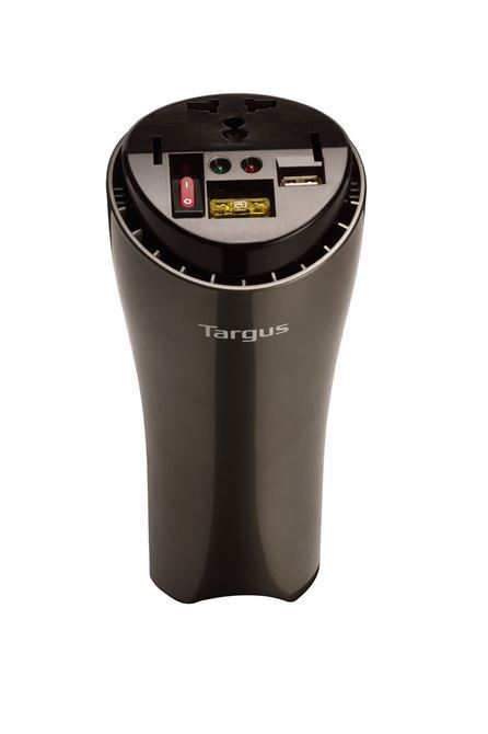 ACオートモーティブ200 WパワーインバーターUSB(チタン/ブラック)付き高速充電ポートの画像
