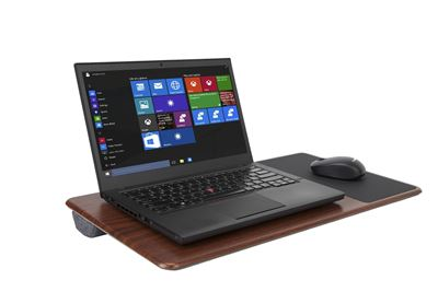 "Picture of All-Purpose Laptop Desk with Mouse Pad 15.6"" (Black/Brown)"