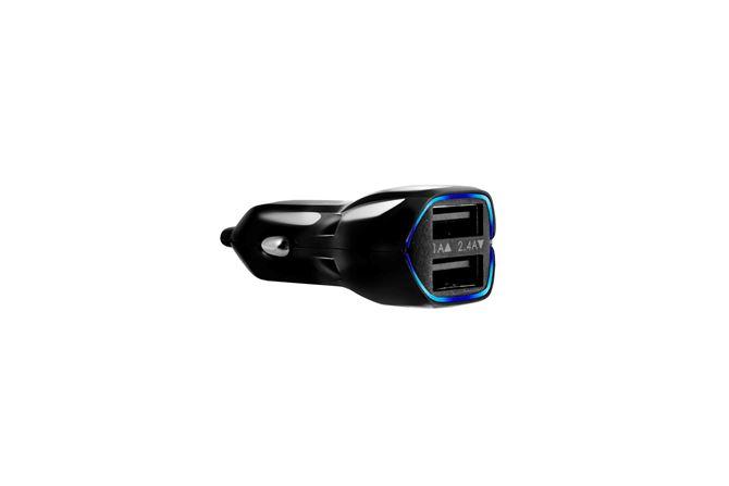 デュアルUSB車の充電器(3.4A)(ブラック)の画像