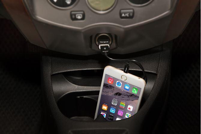 高速カーチャージャー、USBケーブル(2.1A)、iPad用(ブラック)の画像