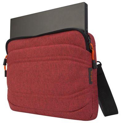 """Imagen de La funda plana Groove X2 de Targus diseñada para un MacBook de 13"""" - Coral oscuro"""
