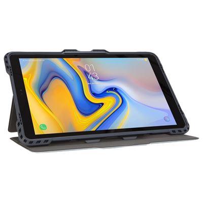 """Imagen de Funda giratoria Pro-Tek de Targus para Samsung Galaxy Tab A de 10,5"""" (2018) en color azul claro"""