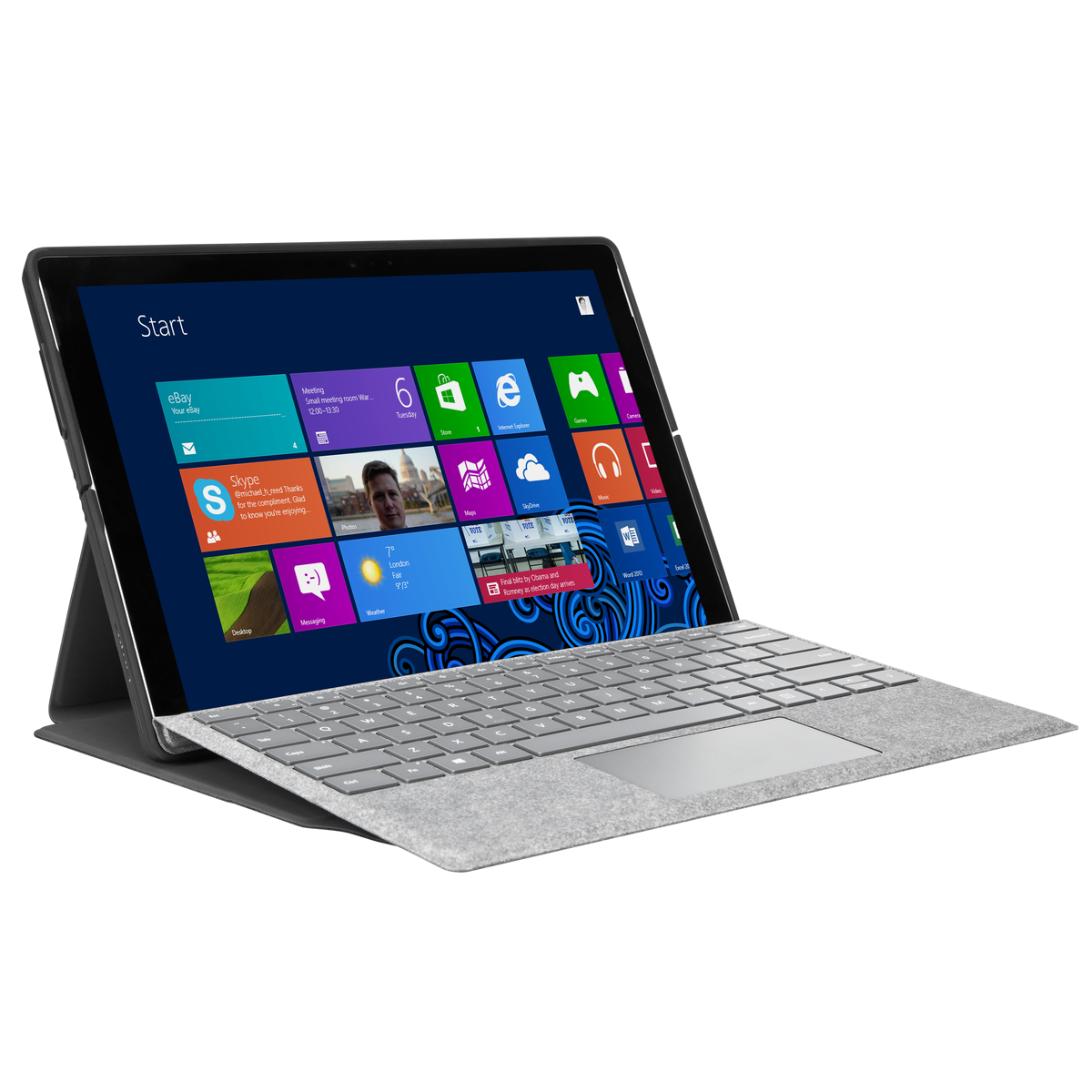 Picture of Folio Wrap + Stand for Microsoft Surface™ Pro (2017), Surface Pro 6 and Surface Pro 4 - Black