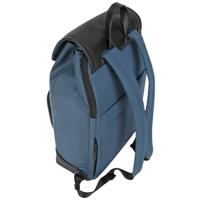 "Picture of 15"" Targus® Newport Drawstring Backpack (Slate Blue)"