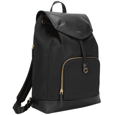 """Picture of 15"""" Newport Drawstring Backpack (Black)"""