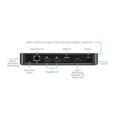 Picture of USB-C™ Multi-Function DisplayPort™ Alt. Mode Triple Video Docking Station with 85W Power