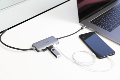 Picture of USB-C Multi-Port Hub with Ethernet Adapter